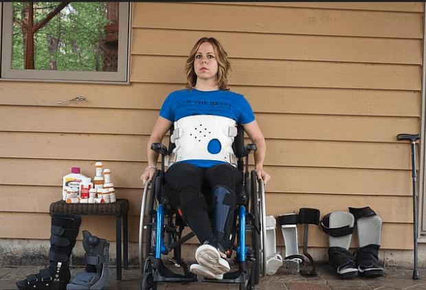 Erin Rollings in body brace 1