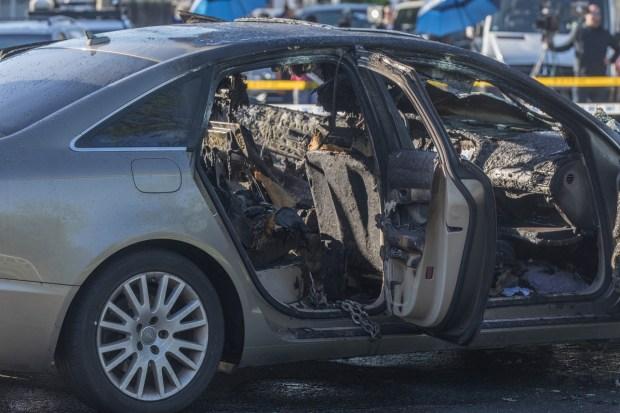 Martin Pereira's torched car 5