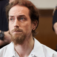 Gaunt looking former NY 'trust fund bad boy', Thomas Gilbert Jr, in court on trial for the murder of his hedge fund manager dad, four years after