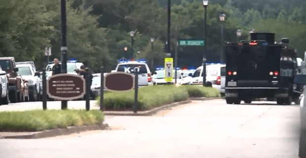 Virginia Beach Police Officers respond to shooting at the Virginia Beach Municipal Center 3