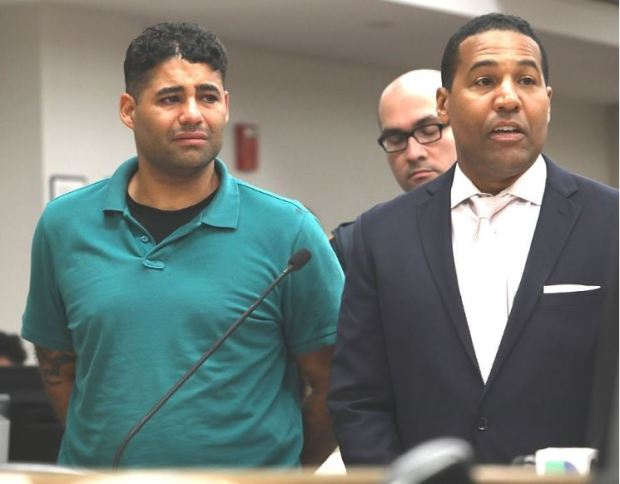 Juan Rodriguez and his defense attorney Joey Jackson [right] 1