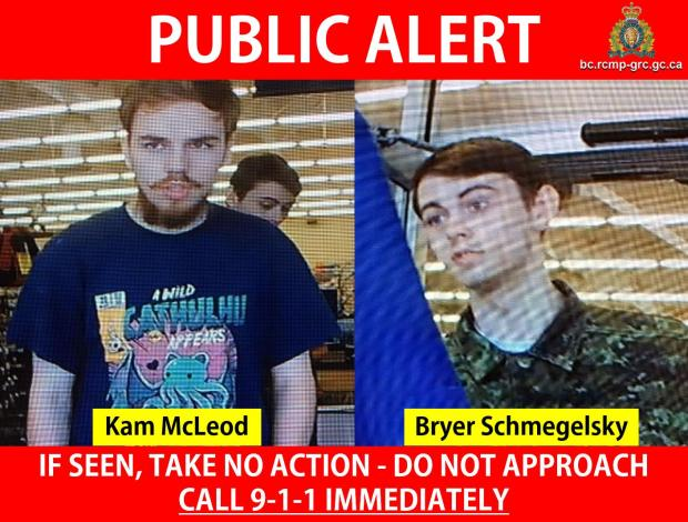 Kam McLeod, [left], and Bryer Schmegelsky [right] 2