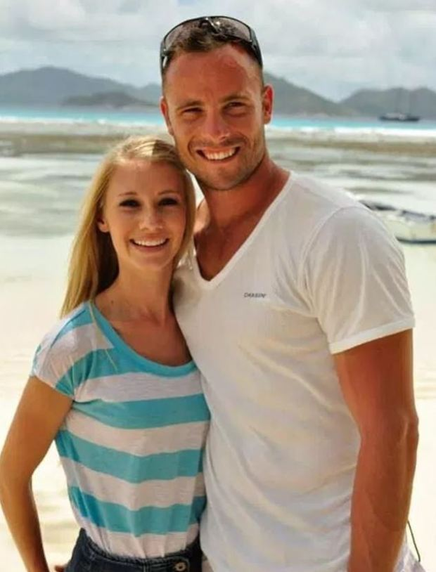 Oscar Pistorius [right] with his then-girlfriend Samantha Taylor [left] 1.JPG
