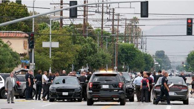 Police presence after Gerry Zaragoza shooting 1.JPG