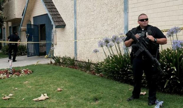 Police presence after Gerry Zaragoza shooting 2.JPG