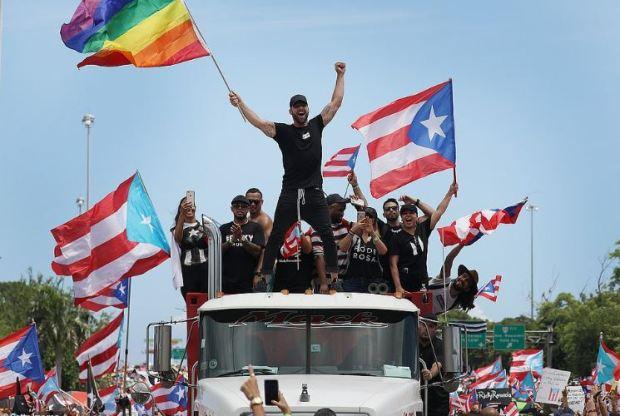 Ricky Martin celebrates resignation of Ricardo Rosello 1.JPG