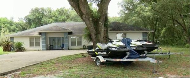 Terrerence Jones Jr crime scene in Wildewood, Florida