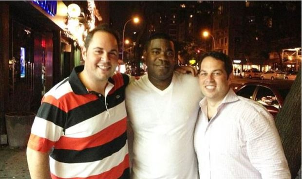 David Kimowitz [right], with Tracy Morgan [center] 1