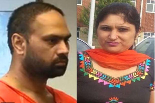 Guepreet Singh [left] killed his wifeShalinder Kaur [right] 1