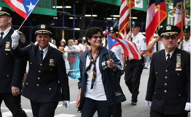 NYPD Union on the march