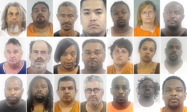 Three and half dozen people arrested in a drug trafficking operations [opioids] in Virginia.jpg