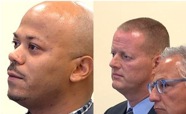 Francisco Rodriguez [left] and Lt Keith Ludwig (right) 1