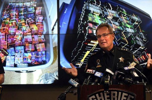 Kenosha County Sheriff David Beth talks about the THC-infused vaping cartridges.JPG