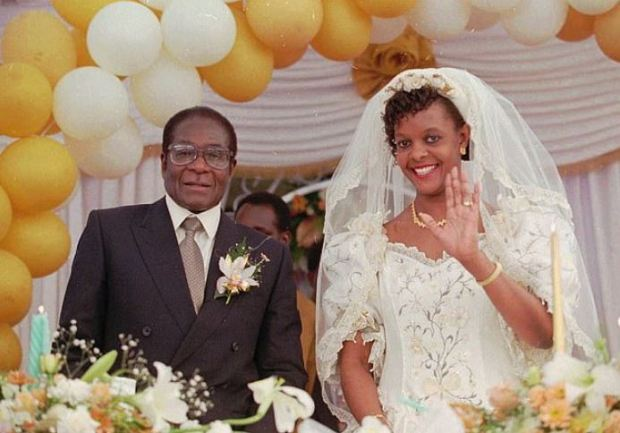Robert and Grace Mugabe's wedding 1