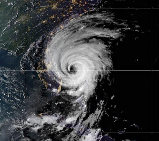 eye of the storm for Hurricane Dorian 1