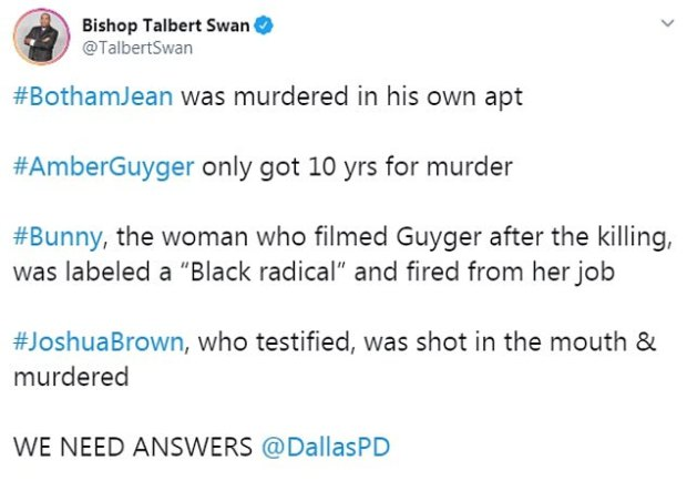 Bishop Talbot Swan tweet on Joshua Brown murder 1.jpg