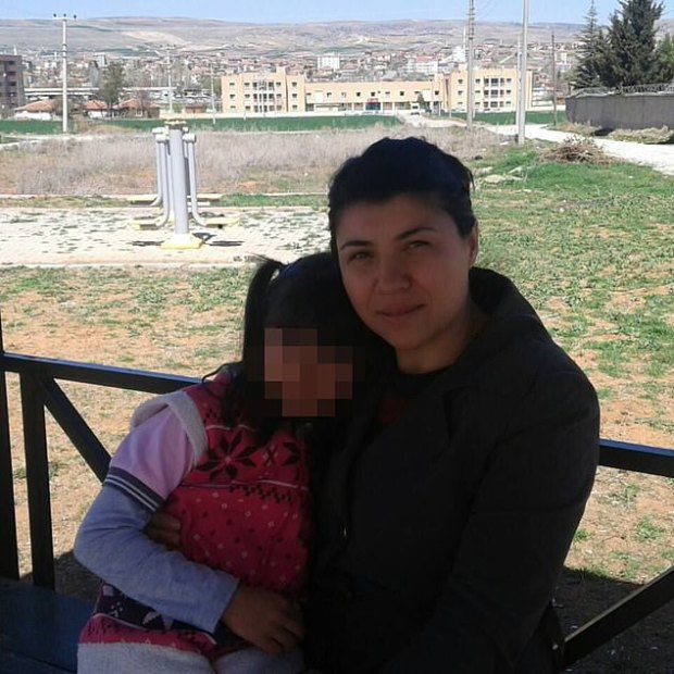 Emine Badegül Bulut pictured with her daughter 1