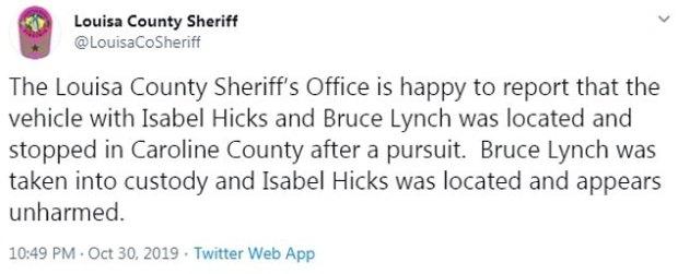Louisa County Sheriff's Office confirm arrest of Bruce Lynch 1.jpg