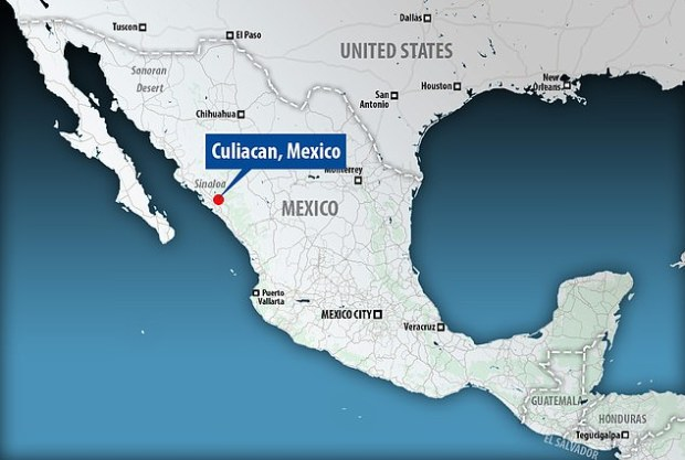 Map of Sinaloa state Mexico showing the city of Culiacan were the confrontation occurred.jpg