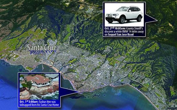 Map showng Tushar Atre's home, Pleasure Point, Santa Cruz, Calif 1.jpg