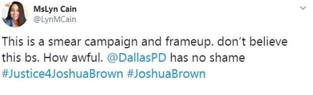 MsLyn Cain tweet on Joshu Brown murder