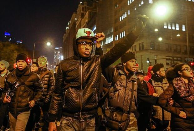 Protests over police killing of Laquan McDonald 1.JPG
