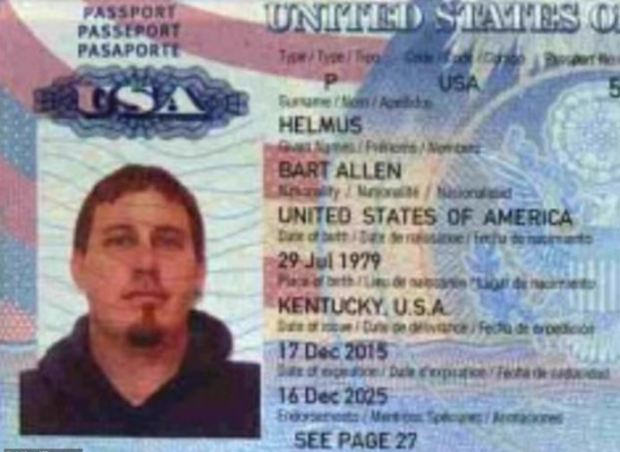 Bart Allen Helmus' passport 1