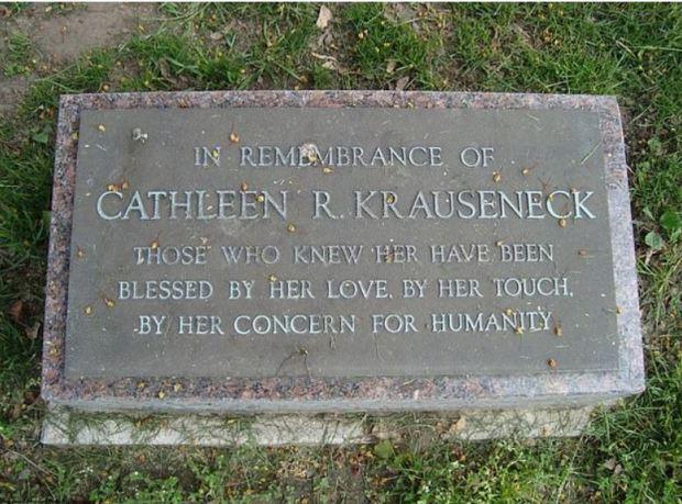 Cathleen Krauseneck's tombstone 1