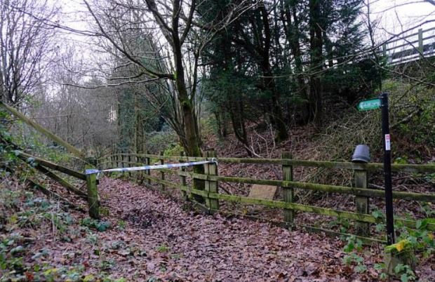 Dibden Lane in in Kent, Gloucestershire, UK  where the twin brothers Billy and Joe Smith were found dead on Dec 28, 2019.JPG