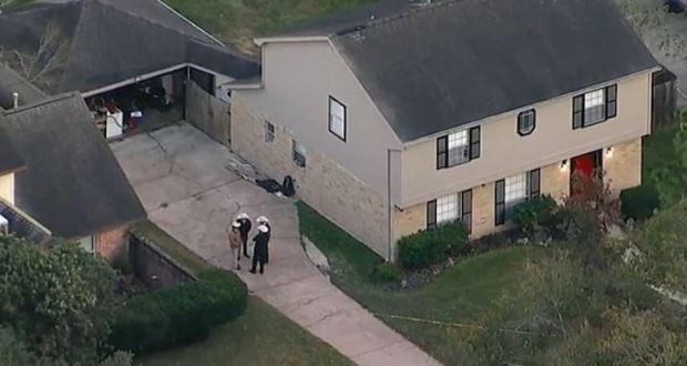 Houston, Texas home where they found the car with Heidi Broussard's body in it and her baby, safe inside