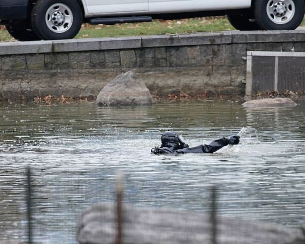 Police divers continued to search the pond in the park on Friday morning for more evidence in the death of Tessa Majors 2
