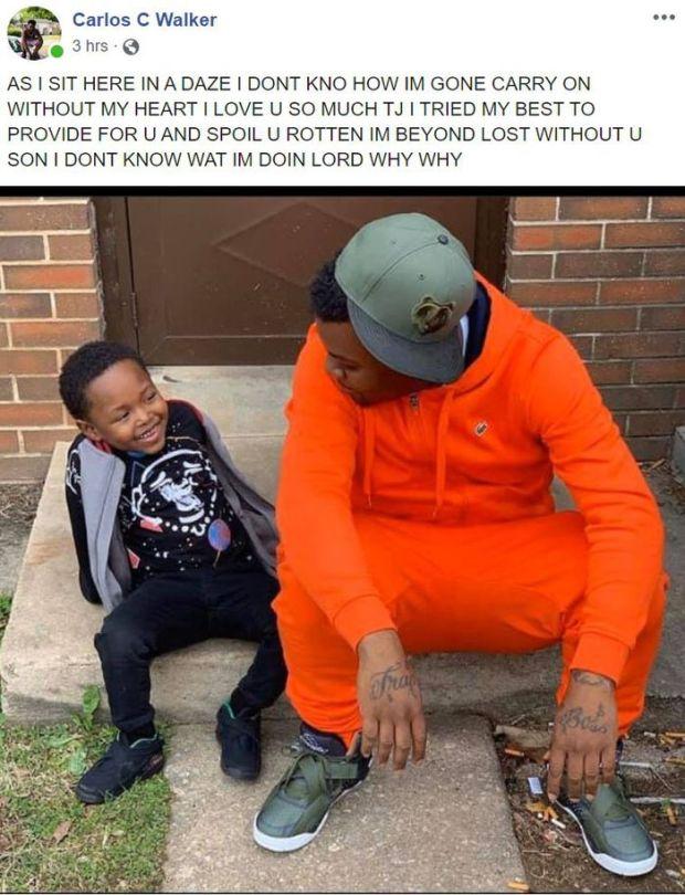 "Ta'Narius ""TJ"" Moore Jr and his stepdad"