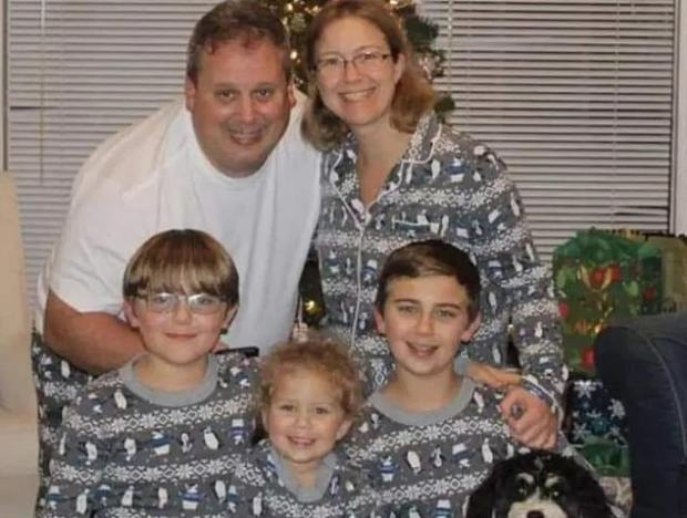 Anthony Todt( left), Megan Todt (right) and their children, Alek, Tyler and Zoe 1