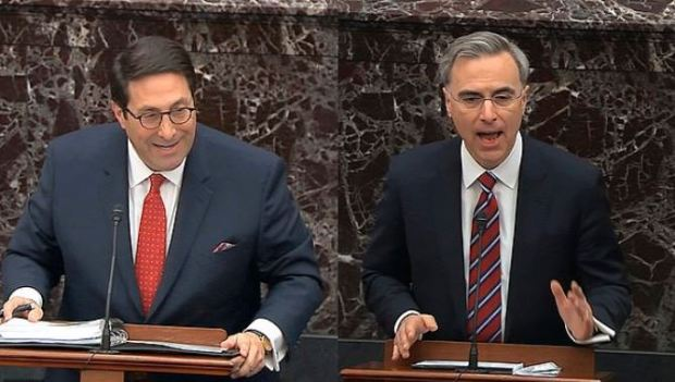 Jay Sekulow (left) and White House Counsel Pat Cipollone (right) 1