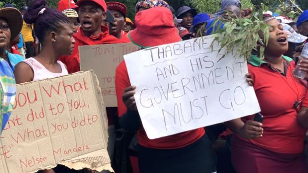 Public protests in Lesotho against Thomas Thabane 1