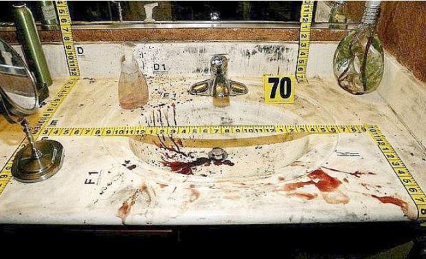 Crime scene photo at Jodi Arias murder trial 2