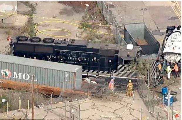 LA port train crash 1
