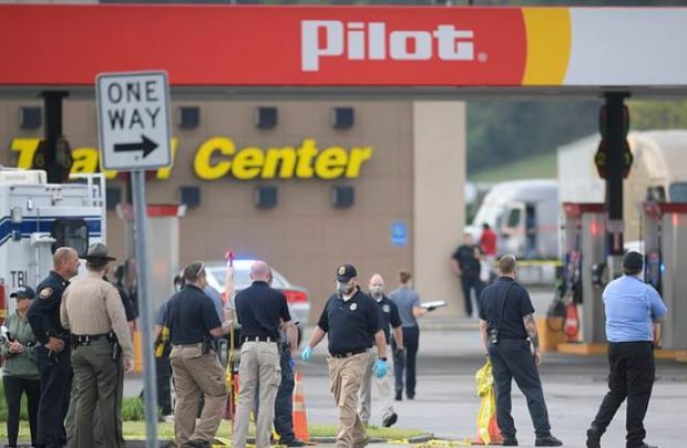 Police activity at Pilot Travel Center, Tennessee 1