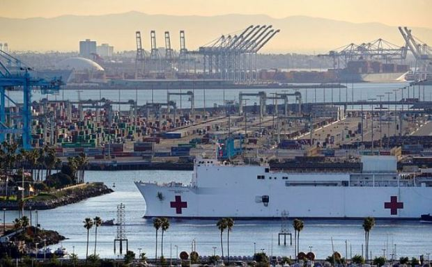USNS Mercy in the Port of Los Angeles 1