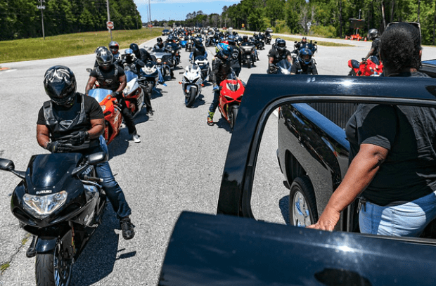 Bikers join in mourning Ahmaud Arbery 1