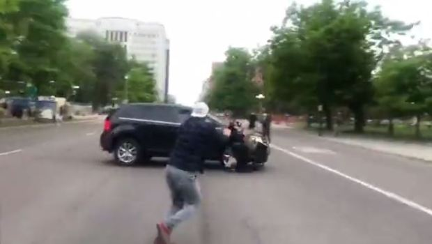 SUV driver targets and runs over Justice 4 George Floyd protester 2