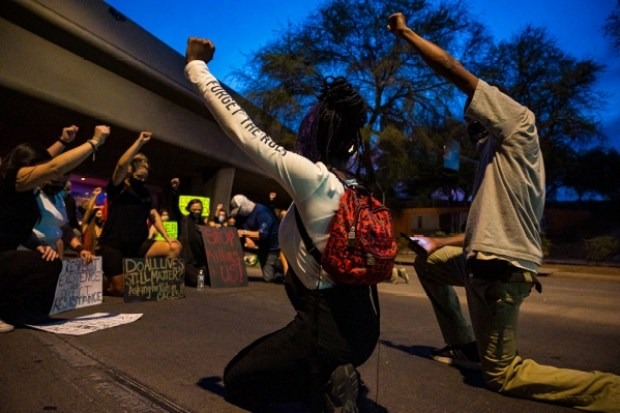 Protests in Tuscon over the death of Carlos Ingram-Lopez 1