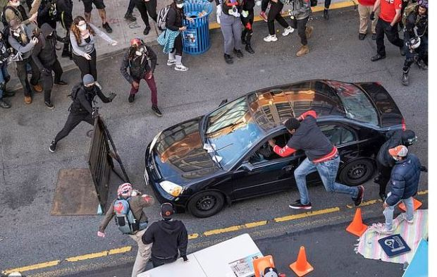 Seattle man plows car into crowd of BLM protesters 2