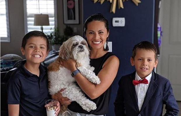 Susan Ang with her sons Ezre Osborn [left], and Seth Osborn [right] 2