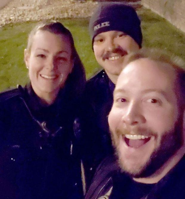 Erica Marrer [left],Jaron Jones and Kyle Dittrich 2