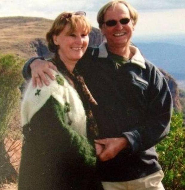 Christine Robinson and husband Robbie Robinson 1