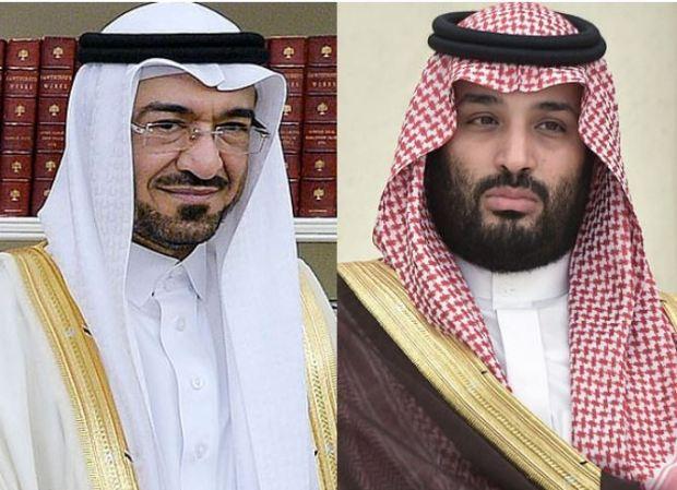 Saad Aljabri (left), and Mohammed bin Salman (right) 1