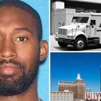 NJ security guard Dante McCluney, 35, is charged  over theft of $1.7 million from an armored car outside Atlantic City's Bally's casino in brazen daylight heist, his two accomplices wanted