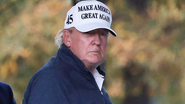 This image has an empty alt attribute; its file name is Donld-Trump-off-to-play-golf-in-defeat-1.jpg