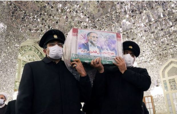This image has an empty alt attribute; its file name is Mohsen-Fakhrizadeh-funeral-2.jpg